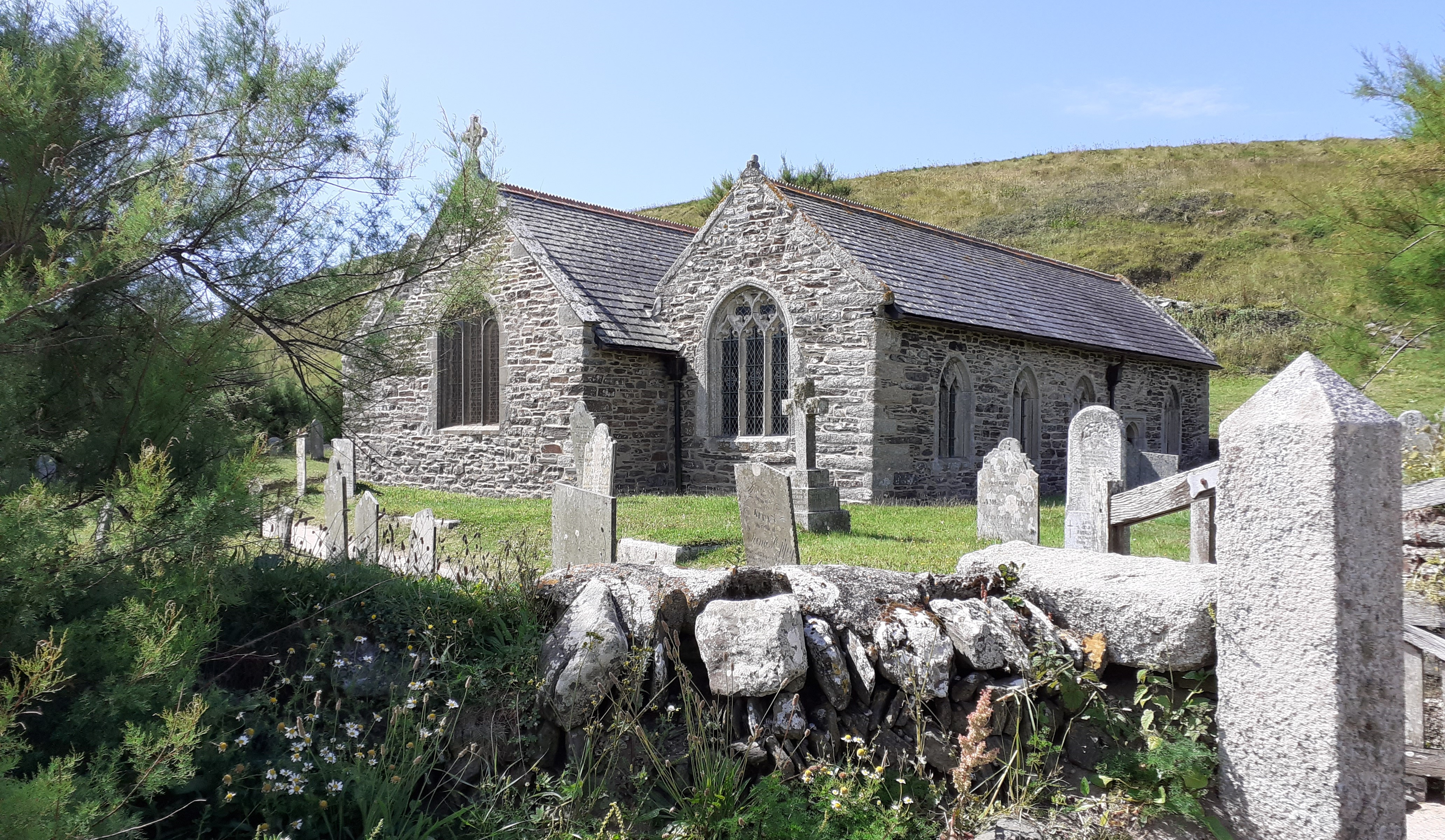 St Winwaloe church, Gunwalloe, Cornwall