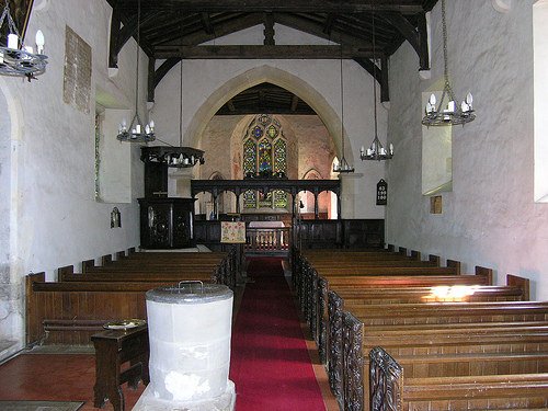 St John the Baptist Church in Kingston Lisle, Interior