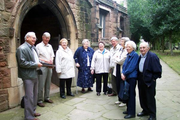 a friends group visiting a church