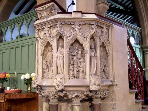 carved pulpit