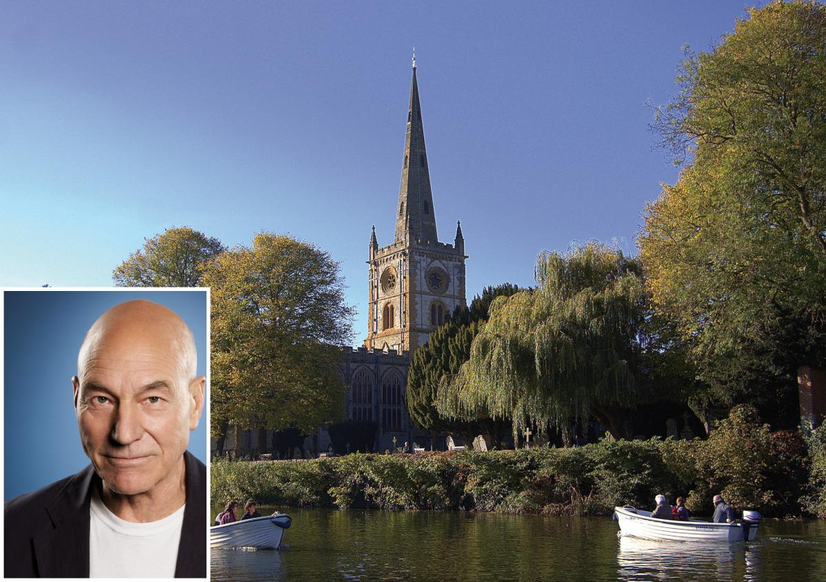 Patrick Stewart @ Holy Trinity Church, Stratford-upon-Avon