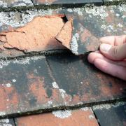 flaking roof tiles